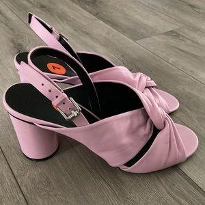 Rebecca Minkoff Lavender Pastel Pink Block Heels 7